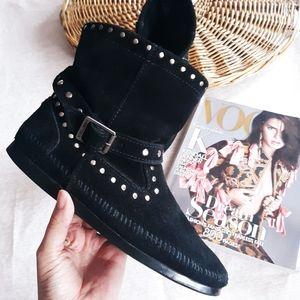 Minnetonka Moccasin studded booties